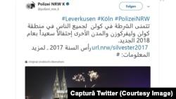 Poliţia din Köln pe Twitter
