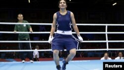 Londonda geçirilýän Olimpiýa oýunlarynda täjigistanly boksçy, 19 ýaşly Mowzuna Çaryýewa bürünç medala eýe boldy, 6-njy awgust.