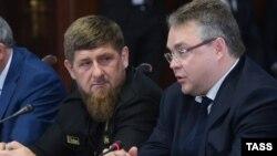 Глава Чечни Рамзан Кадыров и губернатор Ставрополья Владимиров в октябре 2016-го