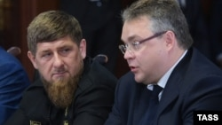 Глава Чечни Рамзан Кадыров и губернатор Ставрополья Владимир Владимиров