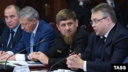 Слева направо: Рашид Темрезов, Вячеслав Битаров, Рамзан Кадыров, Владимир Владимиров