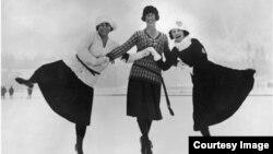Фигуристки – участницы зимних Олимпийских игр в Шамони. 30 января 1924 г