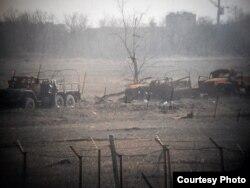 Фото позицій загону «Дикі качки» біля Донецького аеропорту