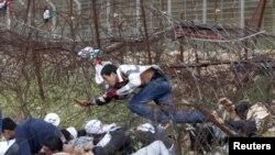معترضان فلسطینی در مرز لبنان و اسرائیل
