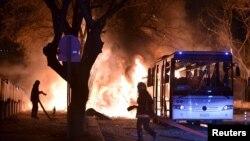 Pamje nga një eksplodimi i mëparshëm në Ankara