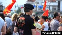 La protestele de la Skopjie