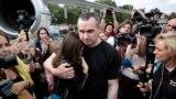 Український режисер Олег Сенцов після обміну ув'язненими між Росією та Україною, 7 вересня 2019 року