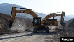 Armenia -- Roadworks are underway in Lori province, September 25, 2019.