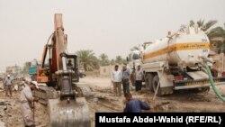 مشروع لإصلاح شبكة أنابيب مياه في كربلاء