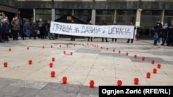 """Skup solidarnosti """"Srce za Davida"""" u Beogradu, 26. decembar 2018."""