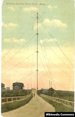 Передающая антенна Фессендена. Почтовая открытка 1910 года