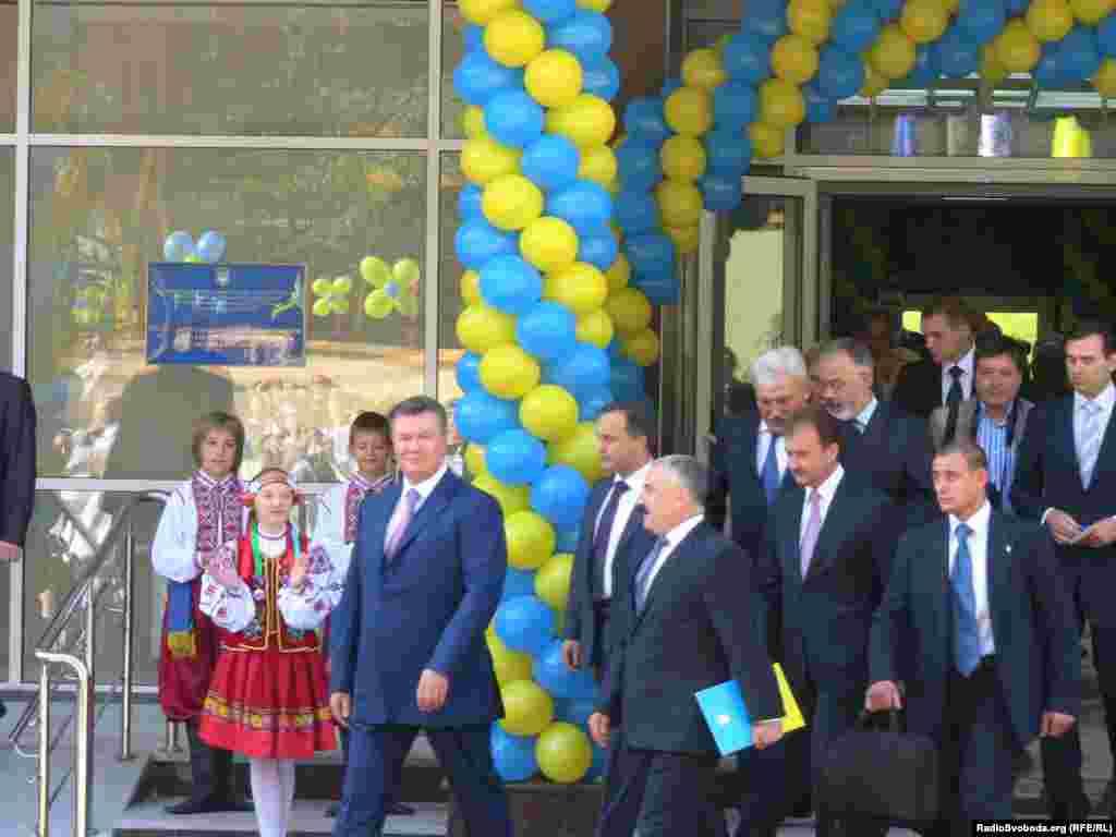 Президент України Віктор Янукович на відкритті школи № 106 у Києві