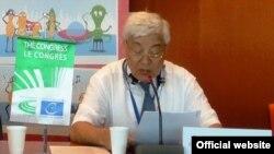 Фәрит Мөхәммәтшин Страсбургтагы Европа Сараенда оештырылган халыкара конференциядә чыгыш ясый. 12 июнь 2014