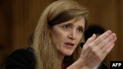 Ambasadorja e sapoemëruar e SHBA-ve në OKB, Samantha Popwer, 17 korrik 2013