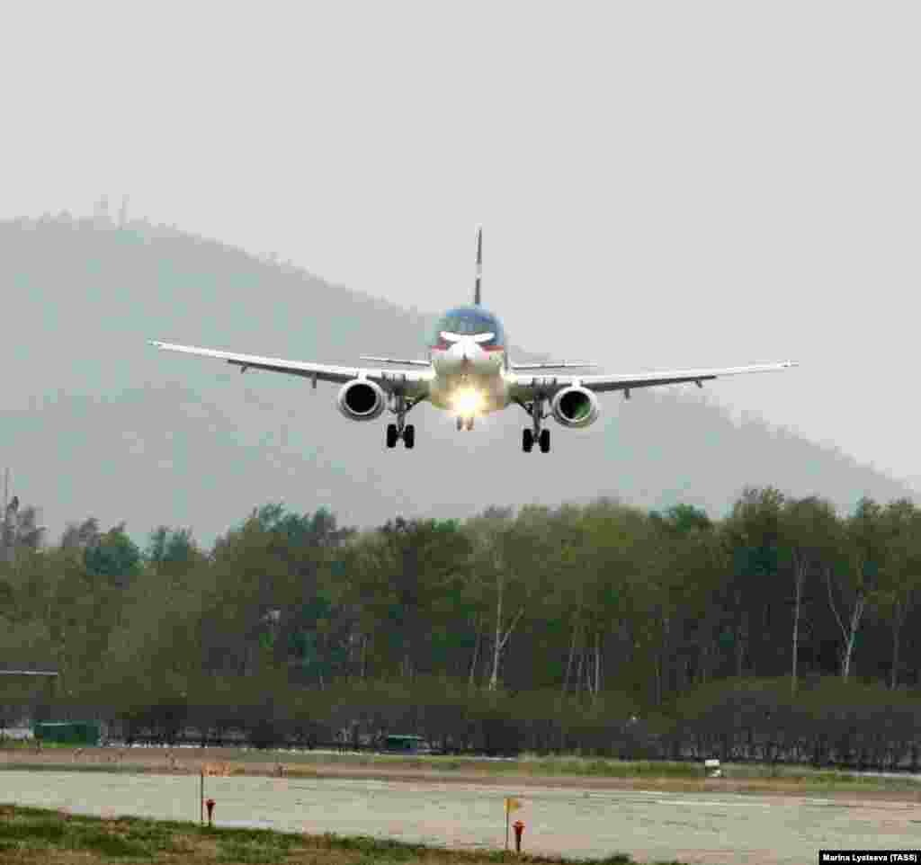 The maiden flight of a Superjet in May 2008. The rollout marked a significant departure for the United Aircraft Corporation, which makes mostly combat aircraft.