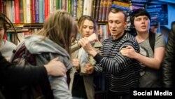 """Стычка в магазине """"Циолковский"""", 17 апреля 2016 года"""