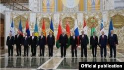 Беларусь - Участники саммита СНГ, Минск, 10 октября 2014 г․