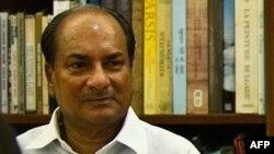 Үндістанның қорғаныс министрі Араккапарамбил Энтони.