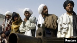 These men, who said they used to belong to the Taliban, voluntarily handed over their weapons and joined the government in Herat earlier this month.