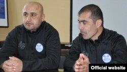 Ғайрат Мираҳмадов - сармураббии дастаи «Равшан» ва Одил Эргашев - капитани ҳамин даста