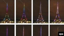 Eiffelov toranj u specijalnom osvjetljenju na 120. godišnjicu, 2009.