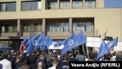 Jedan od protesta policije u Beogradu - oktobar 2011.