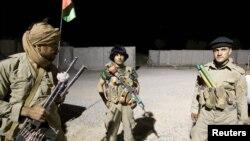 Pjesëtarët e policisë afgane dhe ushtarët amerikanë në Kandahar të Afganistanit