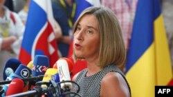Евробиримдиктин Тышкы саясат бөлүмүнүн башчысы Федерика Могерини.