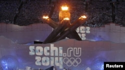 A tribute to the Sochi Games is unveiled during the closing ceremony of the Vancouver 2010 Winter Olympics. Will Sochi make the grade?