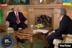 Савик Шустер берет интервью у Александра Лукашенко, март 2014 года
