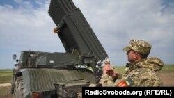 Испытания новых реактивных снарядов «Тайфун-1» в Одесской области. Май 2020 года