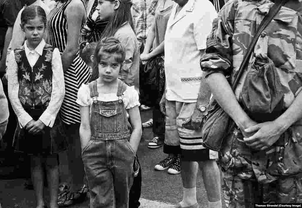 Дети во время первого выступления Виталия Кличко после избрания на пост мэра Киева