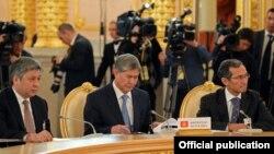 Делегация Кыргызстана на заседании Высшего Евразийского экономического совета на уровне глав государств в Москве, 2013