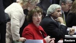 کاترین اشتون، رئیس سیاست خارجی اتحادیه اروپا.