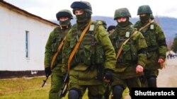 «Зялёныя чалавечыкі» ў Крыме — як прызнаваў Пуцін, гэта былі расейскія вайскоўцы