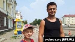 Уладзімер Літоўчанка з сынам