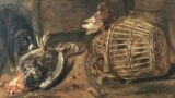 """Фрагмент картины Габриэля Метсю """"Торговка дичью"""""""