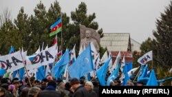 Митинг у памятника М.Э.Расулзаде. Баку, Новханы, 31 января 2013