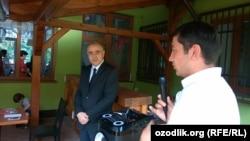 Ўзбекистоннинг Германиядаги элчихонаси консули Азим Озотов билан Прагадаги учрашув, 9-июль, 2017-йил.