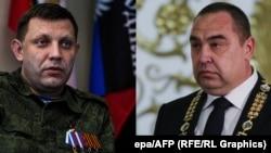 Главарь группировки «ДНР» Александр Захарченко и главарь группировки «ЛНР» Игорь Плотницкий (справа)