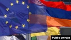 Եվրամիության և Հայաստանի դրոշները
