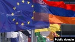 Հայաստանի և Եվրամիության դրոշները