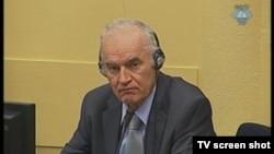 Ratko Mladić u sudnici