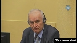 Ratko Mladic in The Hague courtroom