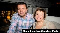 Леонид Парфенов и Елена Чекалова