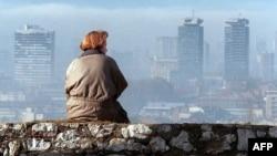 Pogled na Sarajevo 17. novembra 1995.