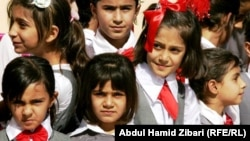Курдские школьницы в городе Эрбиль на севере Ирака