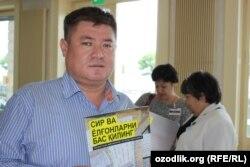Uzbek human rights activist Abdurahmon Tashanov