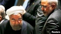 تصویری از حسن روحانی و محمد جواد ظریف در آمریکا