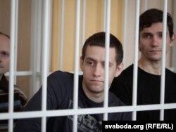 Алесь Кіркевіч падчас суду ў справе «аб масавых беспарадках»